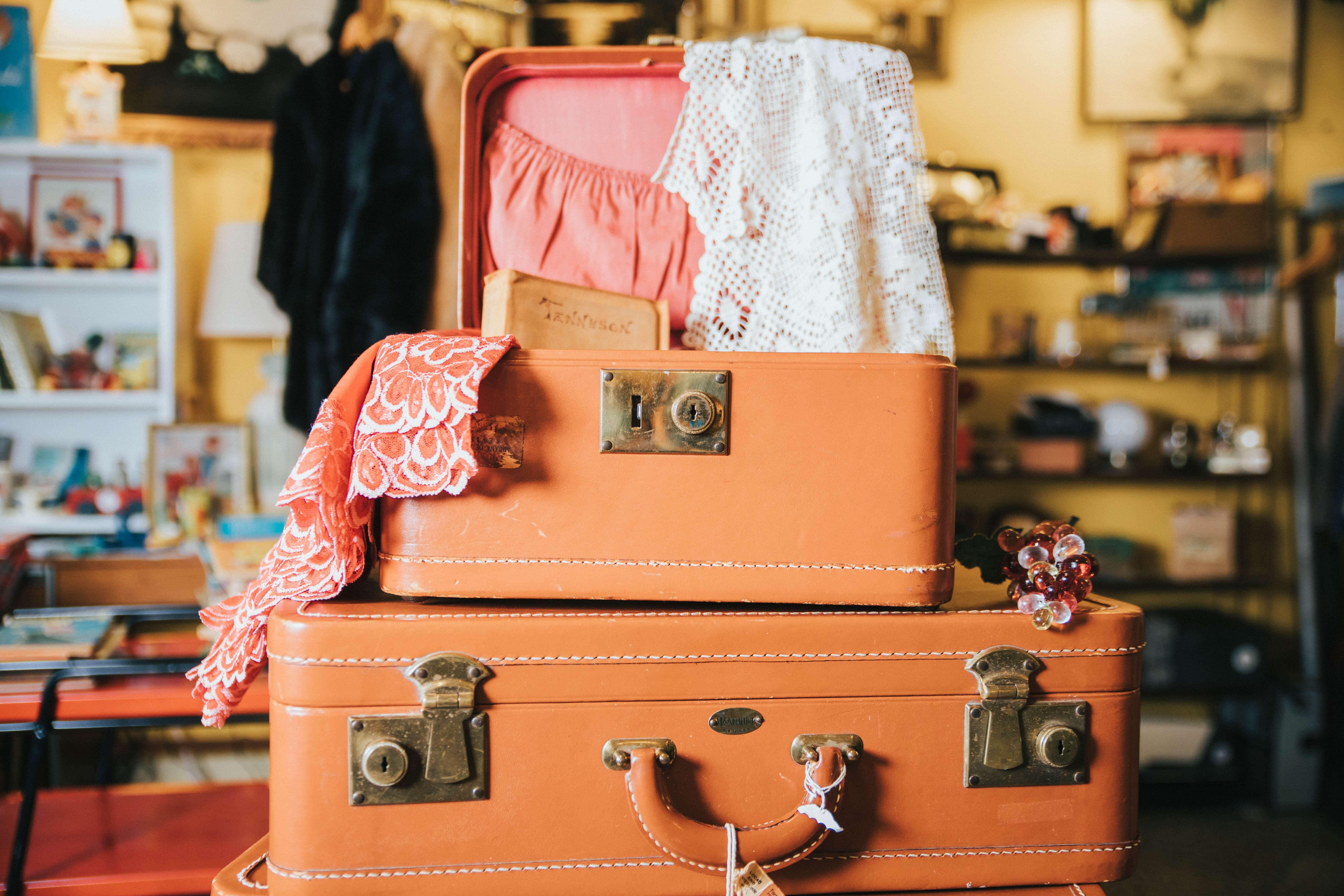 valises pour partir en vacances vintage