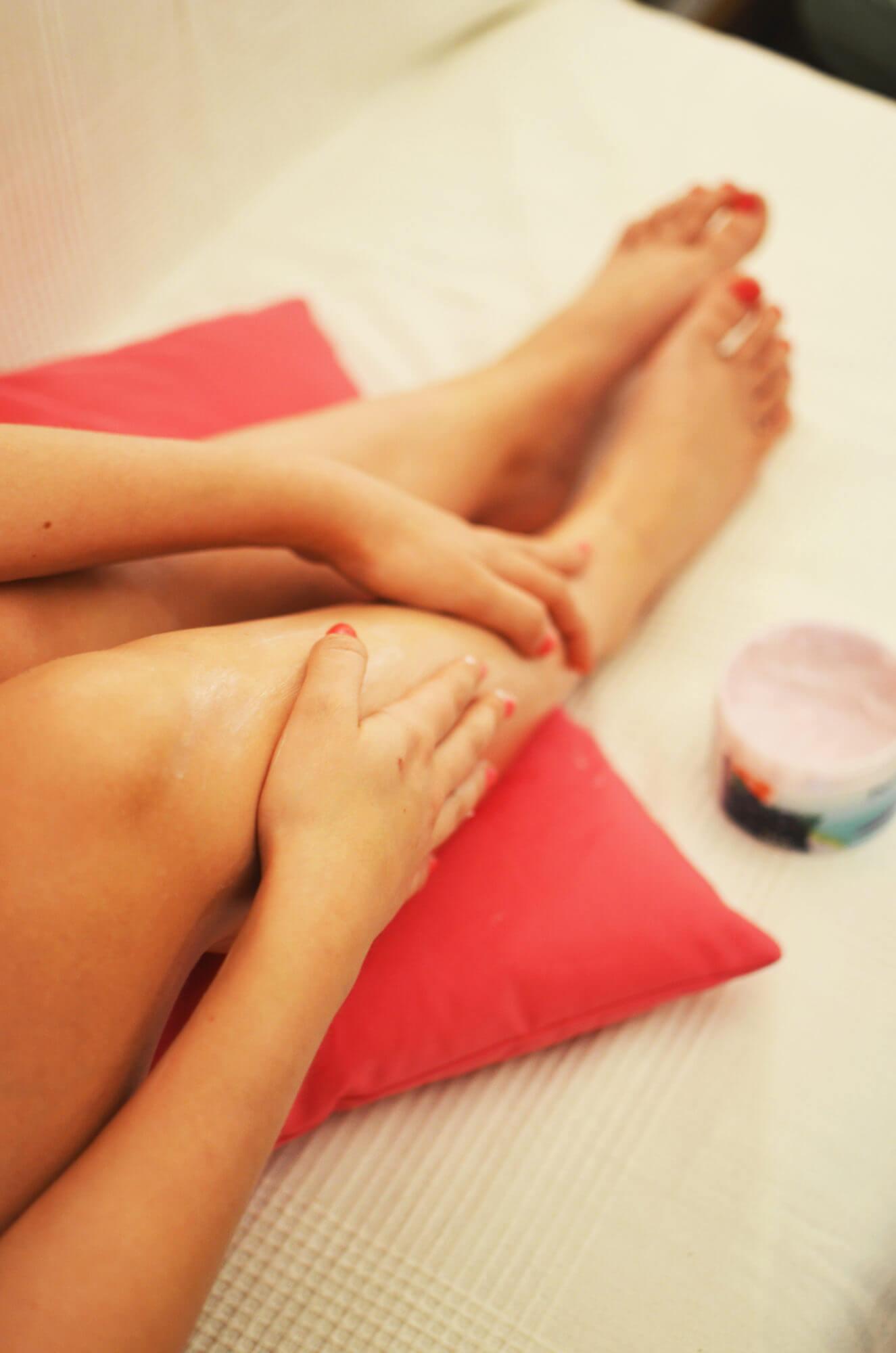 soin après un bain de pieds